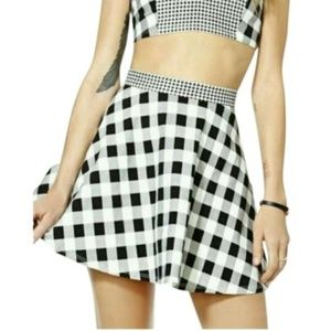Nasty Gal Dresses - Nasty Gal,Black & White In Check Two Piece